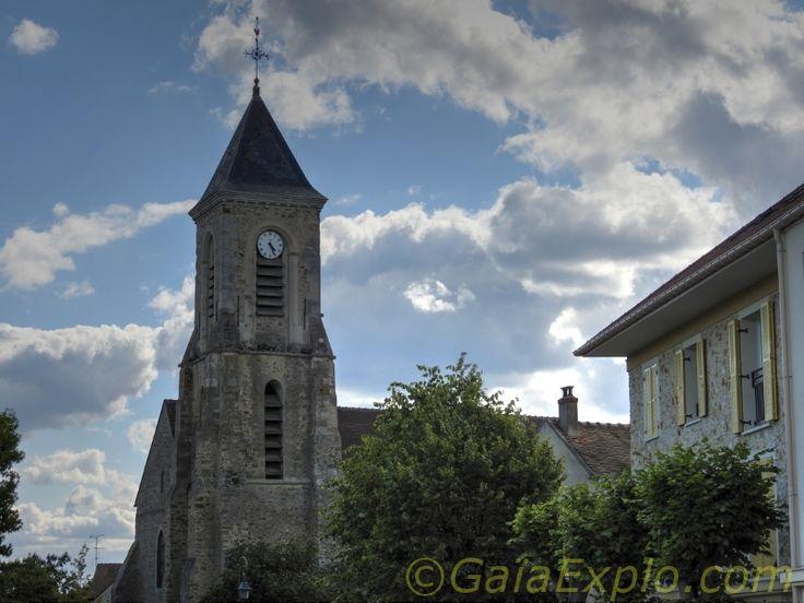 Circuit pédestre Jaune dans Bondoufle - Arrivée sous l'Église