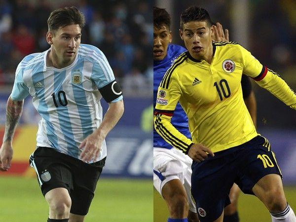 Argentina vs. Colombia: partido de cuartos de final copa américa. June 25, 2015.