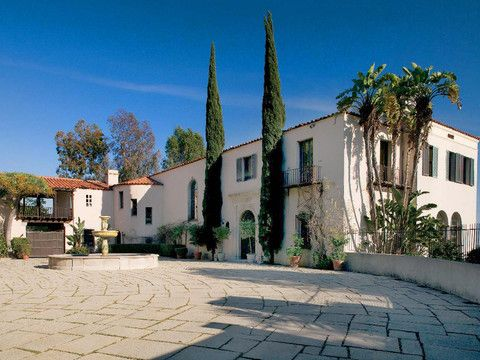 Another example of a light sand colored/almond exterior and red roof - just to compare... The Legendary Estates of Beverly Hills | Excerpts Page 3