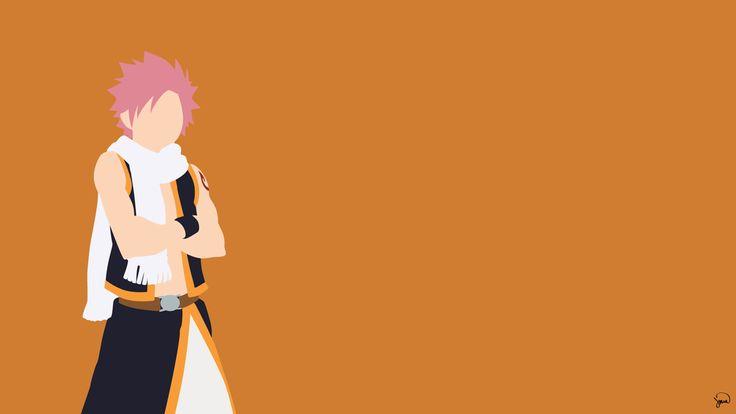 Natsu Dragneel (Fairy Tail) Minimalista Wallpaper por greenmapple17