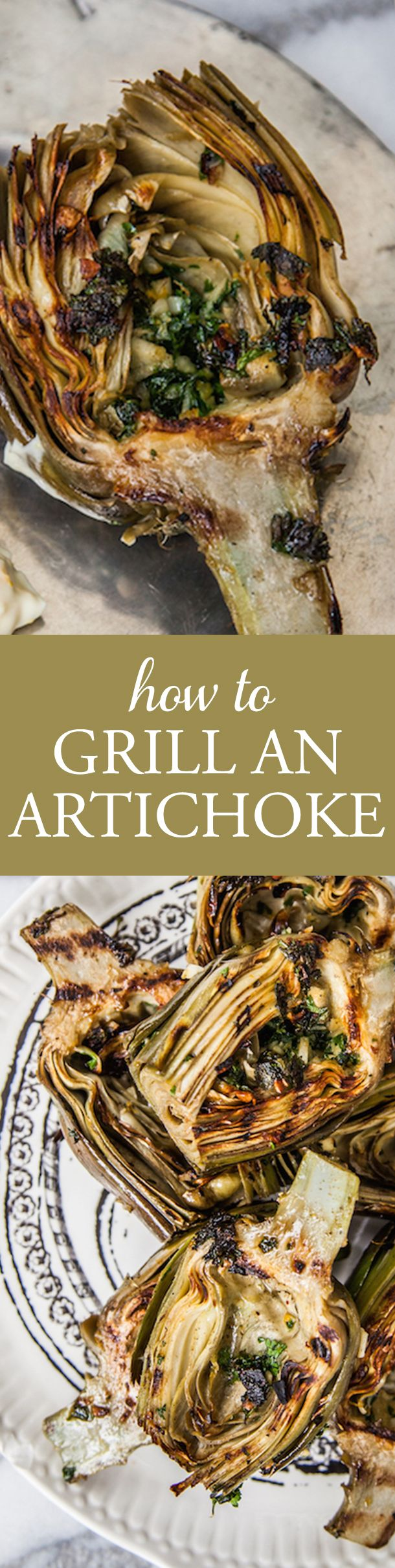 This is the best way to grill an artichoke and add the most amazing flavor!