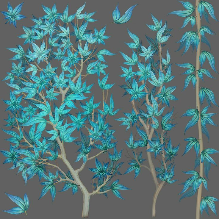 An amazing stylized blue tree made by Naughty Dog artist Genesis Prado.