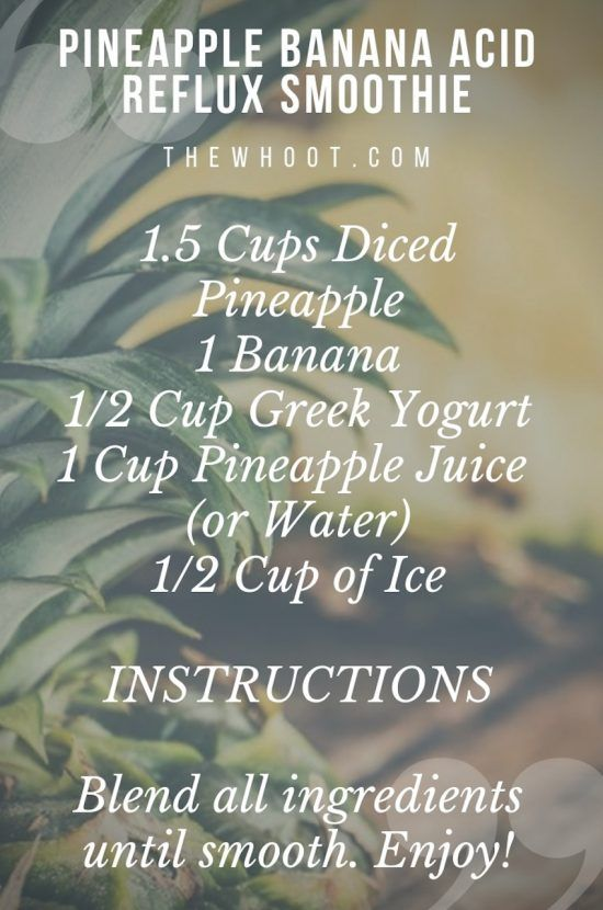 This Pineapple Banana Acid Reflux Smoothie Really Works