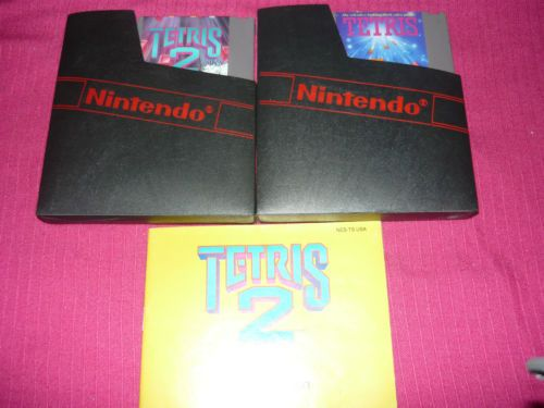 Tetris 1 and 2 Nintendo NES Tetris 2 with Manual Tested Lot Free Shipping | eBay