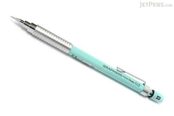 Pentel Graph 600 Drafting Pencil - 0.3 mm - Mint Green Body - PENTEL PG603-S