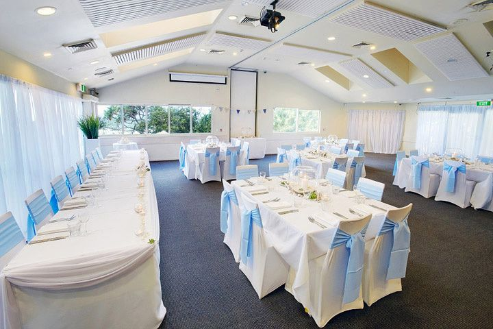 Sit Down Wedding Dinner layout at the Sunshine Beach Surf Club on the Sunshine Coast