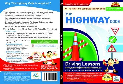 The Highway Code – Road rules & regulations, traffic signs Latest edition by Oasis Softwares Ltd (2009-01-01) Paperback