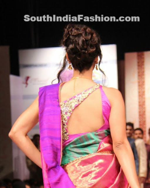 Latest Bridal Saree Blouse Designs ~ Celebrity Sarees, Designer Sarees, Bridal Sarees, Latest Blouse Designs 2014 South India Fashion