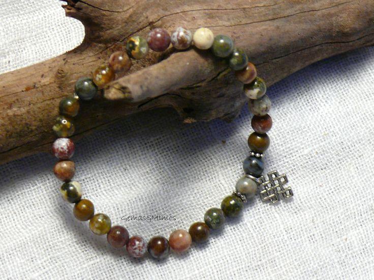 Jaspe oceánico #jewelry #handmade #gemstones #joyeria #hechoamano #artesania #piedras