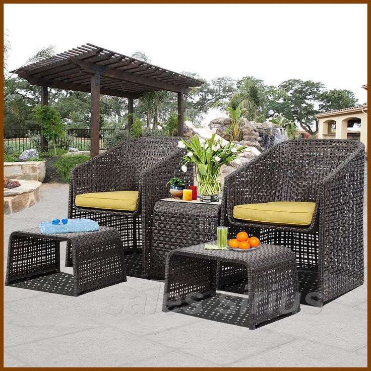 Garden Lounge Set Rattan 2 Seater Bistro Table Seats Cushions Relaxing  Chairs | Table Seating, Seat Cushions And Rattan