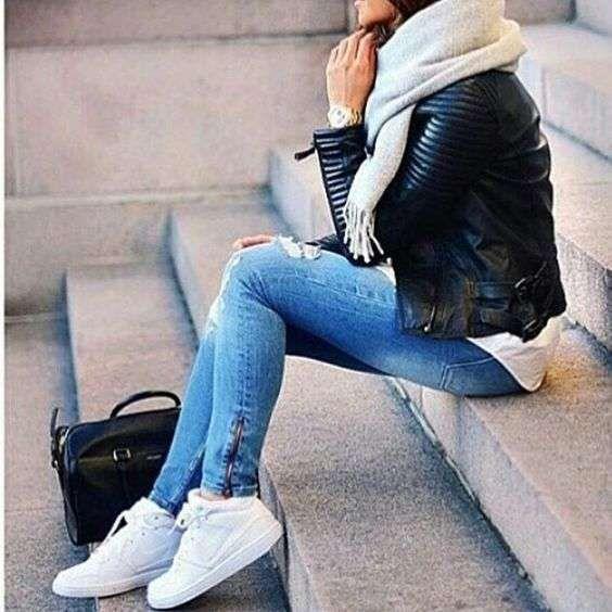 Tendencias de moda 2016: Zapatillas blancas [FOTOS] - Zapatillas blancas con…
