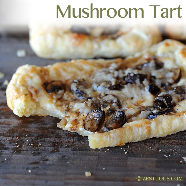 Mushroom Tart ~ Easy enough for a weeknight; fancy enough for a gourmet cocktail party
