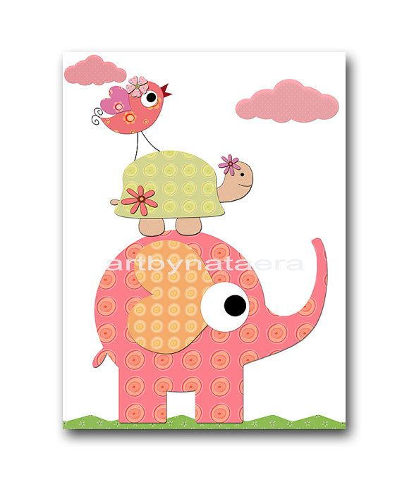 Baby Girl Nursery art print Childrens Wall Art by artbynataera, $14.00