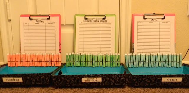 Genius idea for turning in assignments ... quickly tell who has not turned something in!