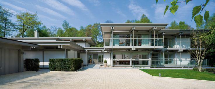 Huf haus love the flat roof interior space pinterest for Haus modern flachdach