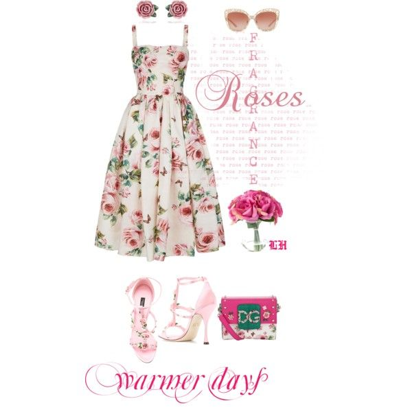 Warmer Days Ahead: Spring Dresses! by lheijl on Polyvore featuring Dolce&Gabbana and springdresses