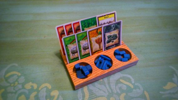 Settlers of Catan Card and Game Pieces Holder by shopfoxwood