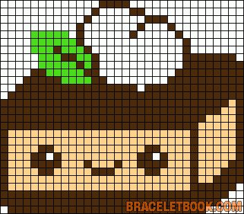 Kawaii cake cream perler bead pattern