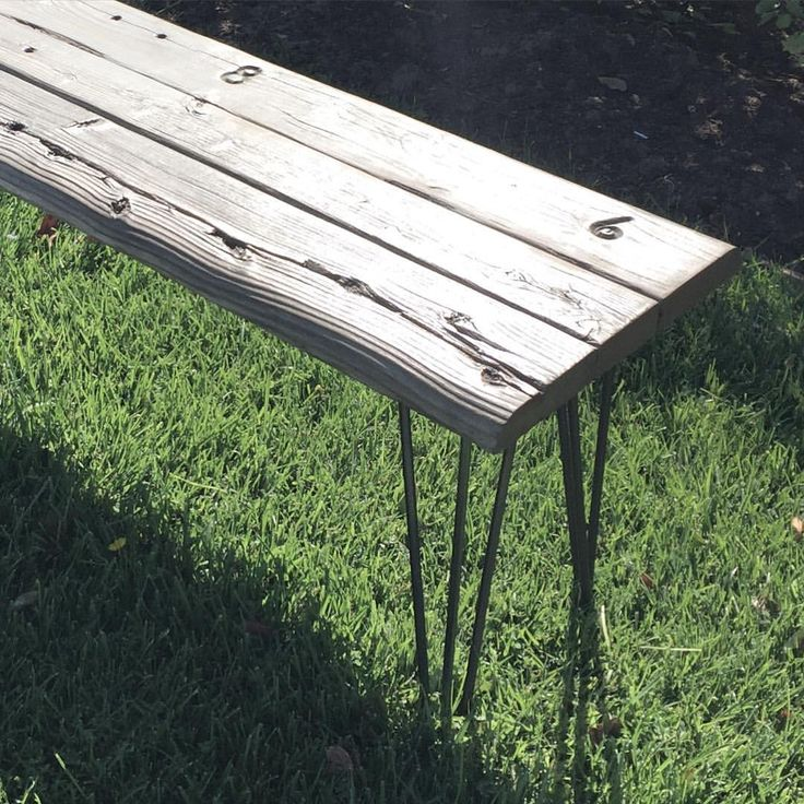 Reclaimed Wood Bench From The Hollywood Bowl Bench Seats. Made In Los  Angeles With Three