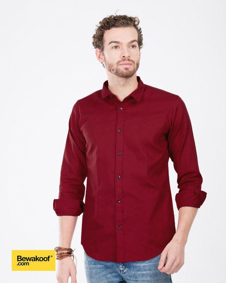 Bewakoof - Latin Red Slim Fit shirt INR 995 at Bewakoof.com