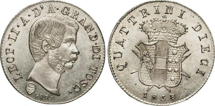 NumisBids: Numismatica Varesi s.a.s. Auction 65, Lot 322 : FIRENZE - LEOPOLDO II DI LORENA (1824-1859) 10 Quattrini 1858. ...