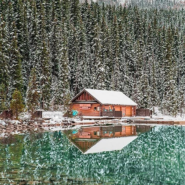 Follow @globefever for more. Who'd be in your cabin? Alberta, Canada. By @ryanlongnecker
