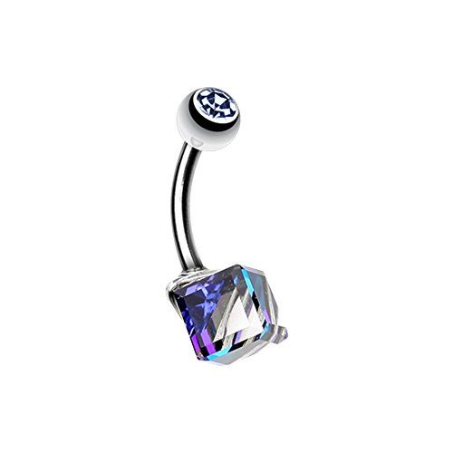 Prism Cube WildKlass Belly Button Ring WildKlass Jewelry