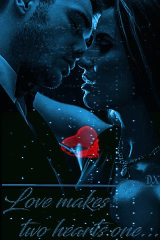 Love makes two hearts one - анимация на телефон №1405275
