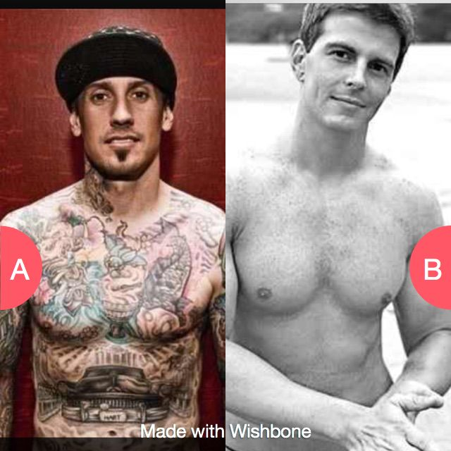 Inked guys our non inked guys? Click here to vote @ http://getwishboneapp.com/share/544379