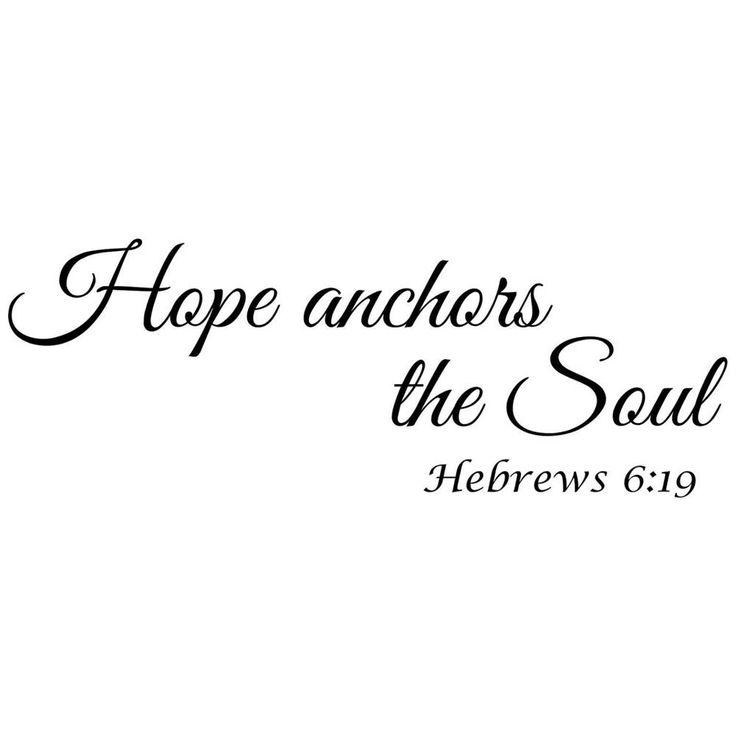 Hope Anchors the Soul Wall Vinyl