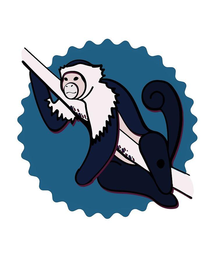 Cutest monkey ever! @oozefina #monkey #cute #isabelline #capuchin #illustration