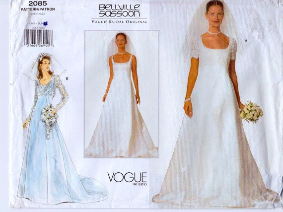 Misses' Bridal Gown  Vogue 2085  Bellville by OldMavisVintage, $10.00