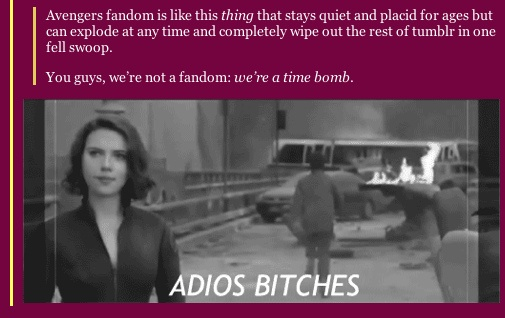 I LOVE THIS! So what you're saying is... we're the Bruce Banner of fandoms?
