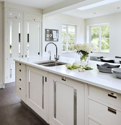 78 images about new kitchen on pinterest pewter white for Classic white kitchen design