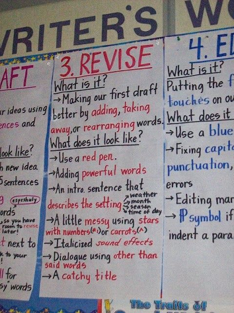 revising essay lesson plan Following a detailed set of instructions, students use crayons (or other multi- colored writing utensils) to visually distinguish between certain.