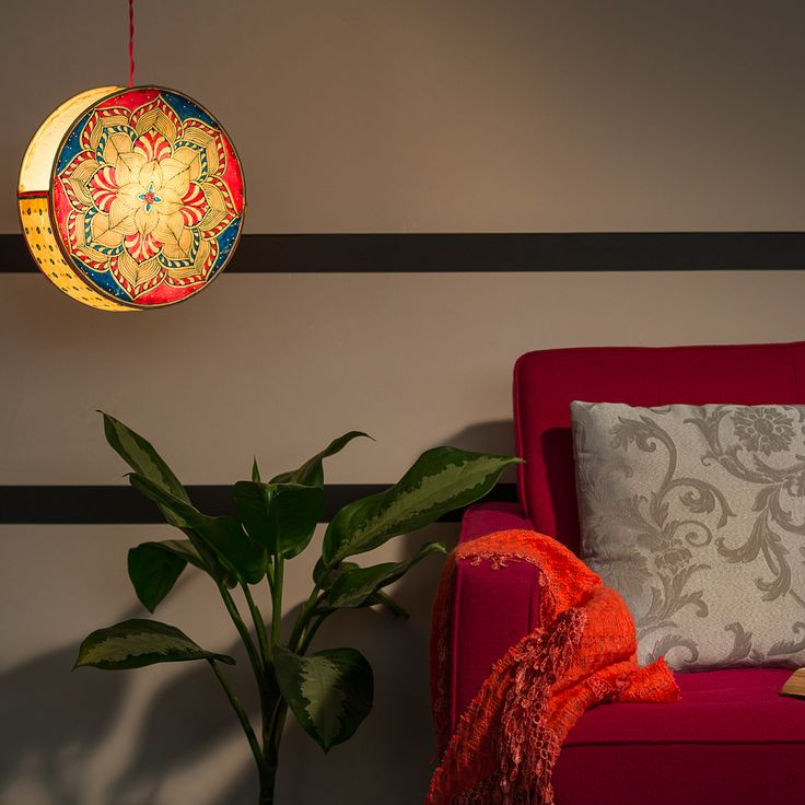 31 best customized lampshades with indian art handcrafted and floral patterns in vibrant colors make this unique design on the drum lamp a statement piece perfect to add the cozy warmth to your living room or study mozeypictures Image collections