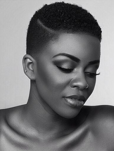 Everything about this tapered natural hair style is gorgeous!
