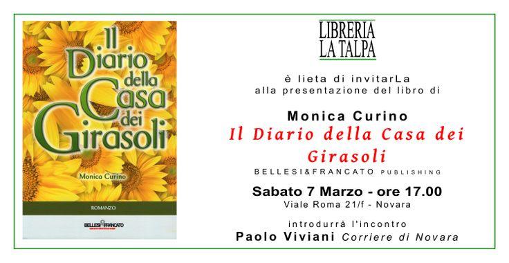 """Alla libreria La Talpa, Monica Curino presenta """"I l D i a r i o d e l l a C a s a d e i G i r a s o l i"""" http://isa-voi.blogspot.it/2015/03/alla-libreria-la-talpa-monica-curino.html"""