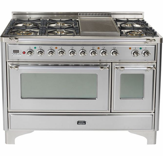 Um120fdmpix Ilve Majestic 48 6 Burner Dual Fuel Range With