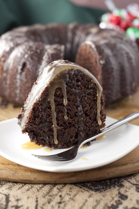 Hot Chocolate Coffee Rum Cake dessert recipe is made from scratch and has all the flavors of the holidays in one rich, moist chocolate bundt cake.