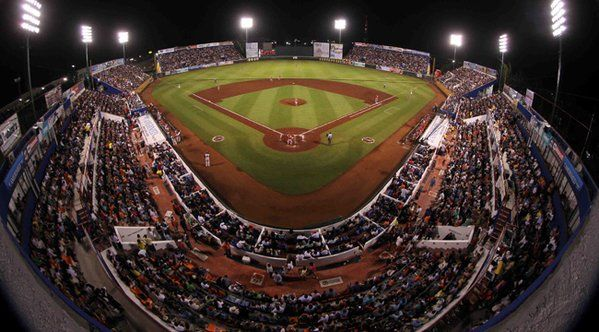 April 1, 2016 - Opening Day at Estadio De Beisbol Beto Avila, the home of the Tigres de Quintana Roo of the AAA Mexican League.