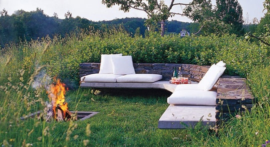 backyard bench