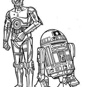 Star Wars C3po And R2d2 The Star Wars Droids Coloring Page C3po