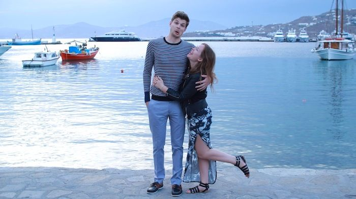Jim and Tanya in Greece. Love these two, they make such a lovely couple and the height difference is funny!! :)