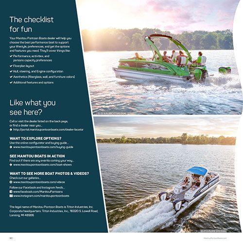 2017 Brochure | Manitou Pontoon Boats