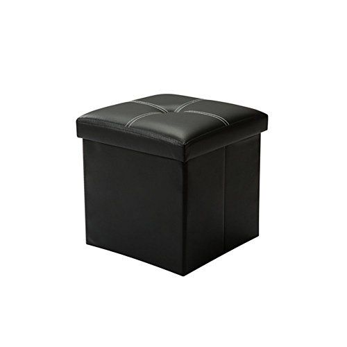 BOUYA Ottoman Folding Storage Footstool With Lid Multifunctional Cube Box Footrest Seat Great for Kids' Toy,Clothes,Books, 30 x 30 x 30 cm---16.99---