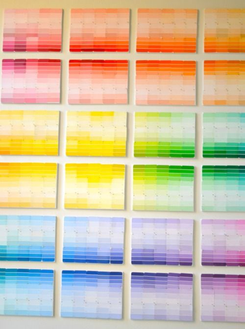 Awesome paint chip ombre art: Chips Ombre, Diy Crafts, Diy Tutorial, Canvas Wall Art, Paintings Chips Art Ideas, Paintchip Art, Chips Wall, Crafts Diy, Chips Canvases