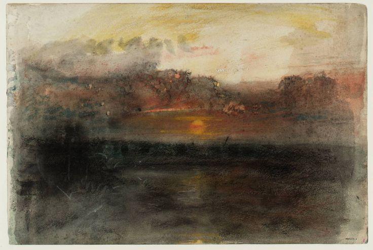 Joseph Mallord William Turner, 'Sunset amid Dark Clouds over the Sea' c.1845