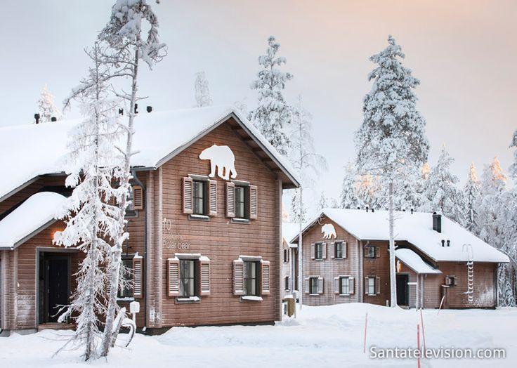 Туристическая деревня Гуло Гуло в Рануа в Лапландии близко к зоопарка Рануа
