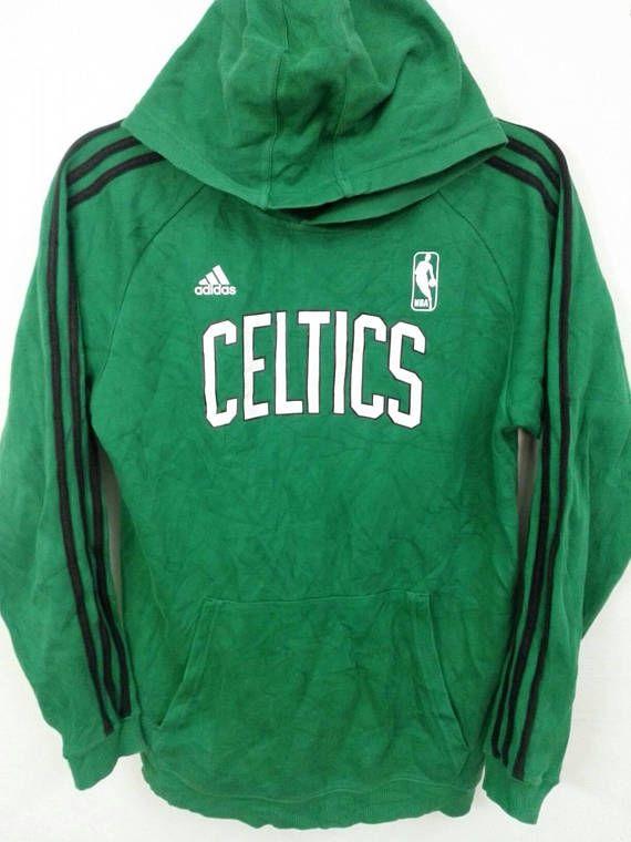Vintage Adidas Celtics Nba Hoodie Size Small Hoodies Vintage Adidas Sweatshirts Hoodie